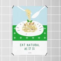 유니크 인테리어 디자인 포스터 M 자연을 먹어요 파스타