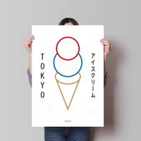 유니크 일본 인테리어 디자인 포스터 M 도쿄 아이스크림