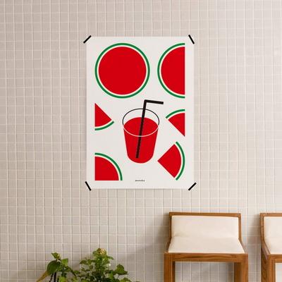 유니크 디자인 인테리어 포스터 M 수박 주스 여름맛
