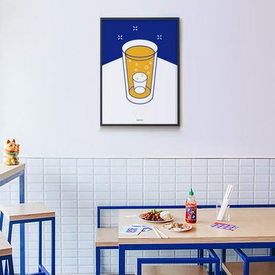유니크 인테리어 디자인 포스터 M 소맥2 소주와맥주