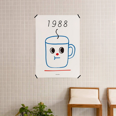 유니크 디자인 인테리어 포스터 M 1988커피2 카페