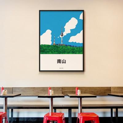 유니크 디자인 인테리어 포스터 M 남산 타워 서울