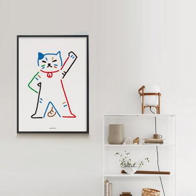 유니크 인테리어 디자인 포스터 M 고양이가 최고야