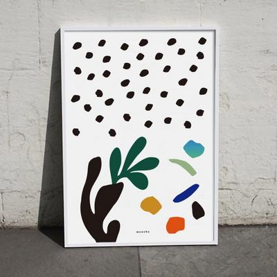 유니크 인테리어 디자인 포스터 M 식물생활 12종모음 택1