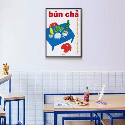 유니크 인테리어 디자인 포스터 M 분짜 맥주 베트남