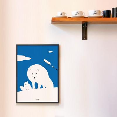 북극여우 M 유니크 인테리어 디자인 포스터 동물