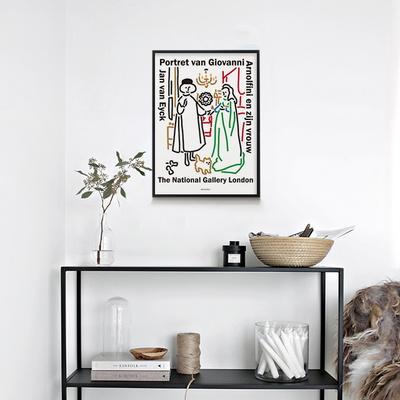 아르놀피니 부부 M 유니크 인테리어 디자인 포스터