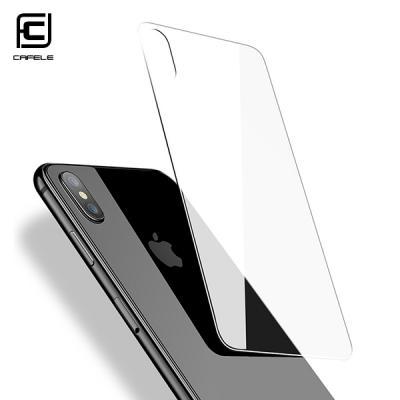 cafele 정품 아이폰 XS X 후면 강화유리 보호 필름 지문방지 0.3mm (렌즈보호링 증정)