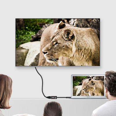 론션 HDMI USB C타입 컨버터 20CM 4K2K UHD TV연결 고화질 미러링 영상전송 빔프로젝트 노트북 모니터