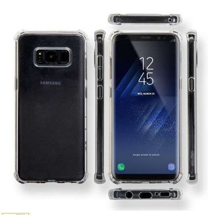 비오비 에어쿠션 투명 젤리 케이스 모서리 보호 방지 범퍼 갤럭시노트10 S10 S9 아이폰11 프로 XS XR SE