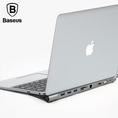 베이스어스 C타입 노트북 도킹스테이션 멀티 허브 type-C HDMI 맥북 멀티포트 랜카드 USB3.0 TF/SD카드