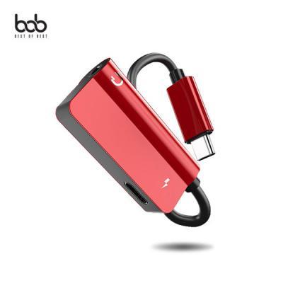 bob TC35db C타입 전용 통화+음악감상+충전 이어폰 듀얼 젠더 갤럭시 A9프로 샤오미 화웨이 넥서스