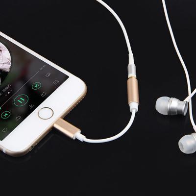 메탈 아이폰 8핀 3.5MM 단일 이어폰젠더 어댑터 iPhone 11 프로 맥스 XS XR 8 7 플러스
