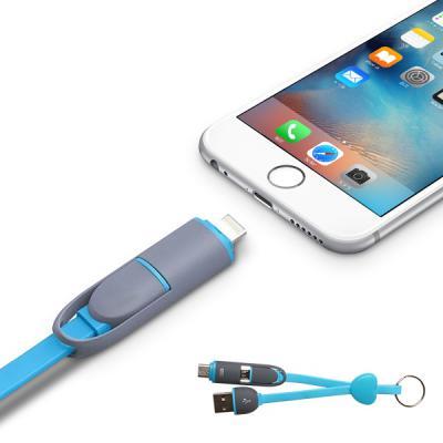 하트 2in1 5핀 8핀 키홀더 플랫 듀얼 숏 케이블 25cm 키홀더 단선방지 꼬임방지 아이폰
