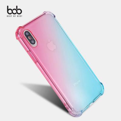 bob 에어쿠션 레인보우 모서리 범퍼 젤리케이스 아이폰 11 프로 맥스 XS MAX XR 8 7 6S 플러스