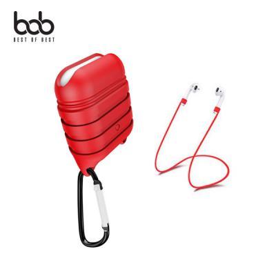 bob 에어팟 전용 캣츠 실리콘 케이스+버클+스트랩 3set 1세대 2세대 무선 유선충전 호환
