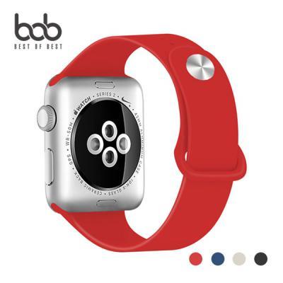 bob 애플워치 정픔스타일 심플 스포츠 밴드 실리콘 스트랩 Apple Watch 1 2 3 4 5세대 38/40/42/44MM
