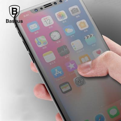 베이스어스 실크스크린 블루라이트 차단 강화유리 필름 아이폰 11프로 XS X (5.8)