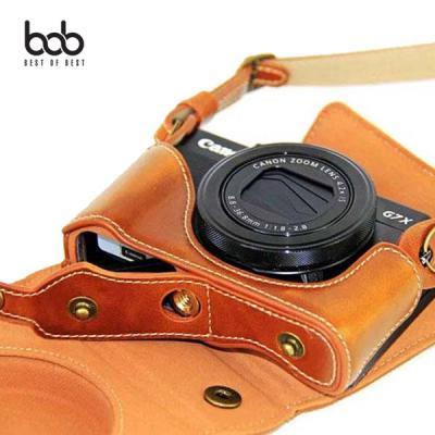 bob 캐논 Canon G7X Mark2 카메라 가죽 스트랩 케이스 크로스백 속사케이스
