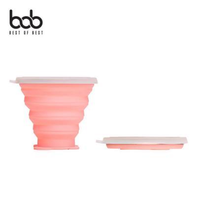 bob 판다곰 휴대용 폴딩 다회용 실리콘 컵 접이식 물컵 야외용 나들이 여행 아웃도어