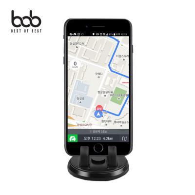 bob 미니 써클 회전 차량용 대시보드 스마트폰 거치대 360도 평행 회전 브라켓