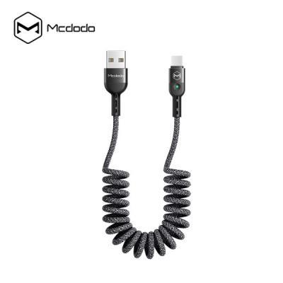 Mcdodo CA-641 맥도도 페브릭 코일스프링 LED 충전 데이터케이블 2A Type-C 아이폰8핀
