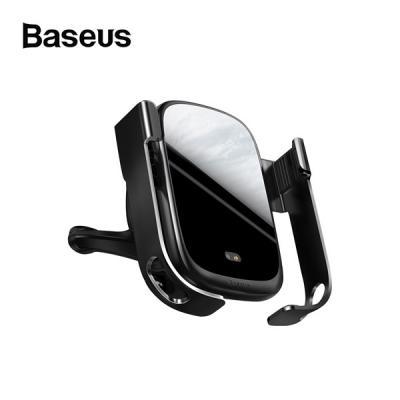 베이스어스 락솔리드 차량용 센서형 무선충전 거치대 (송풍구형+대시보드흡착형)