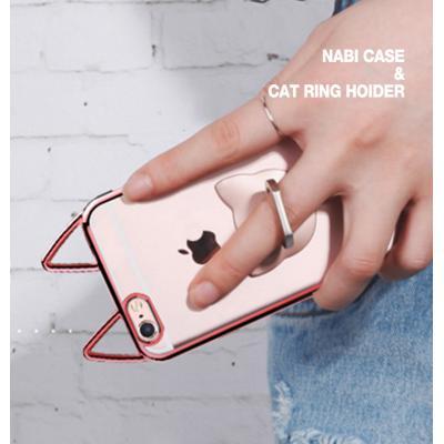 나비 케이스+고양이 스마트링 SET 아이폰 8 7 6S 플러스 갤럭시 S6 S7 엣지 노트4 노트5 엘지 G5