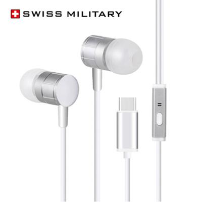swiss miltary 스위스밀리터리 Type-C 스테레오 사운드 이어폰 갤노트20 울트라 노트10 A90 제트 플립 폴드