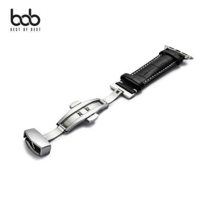 bob 카우하이드 애플워치 원터치 더블버클 가죽스트랩 밴드 Apple Watch 1 2 3 4 5 세대
