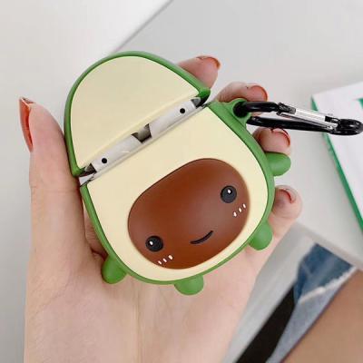 LOFTER 에어팟 전용 아보카도 3D 실리콘 범퍼케이스+버클 Airpods 1세대 2세대 호환