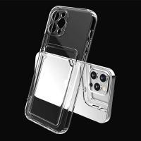 Linkvu 올핏 카메라렌즈 보호커버 카드수납 투명 젤리케이스 아이폰12 11프로  갤럭시 S21 노트20 A32 A42
