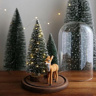 LED 크리스마스트리 유리돔 - 아기사슴