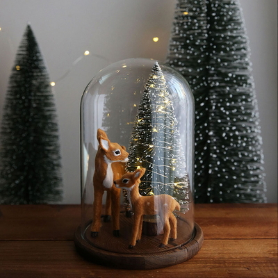 LED 크리스마스트리 유리돔_엄마사슴