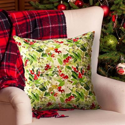 패브릭포커스 열매 쿠션커버(50x50)솜포함 크리스마스쿠션