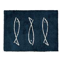 패브릭포커스 물고기 발매트 블루 소형(45x65)