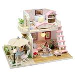 DIY 미니어쳐 하우스만들기-M033_테라스 2층집