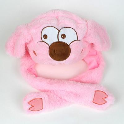 귀 움직이는 돼지 모자-핑크