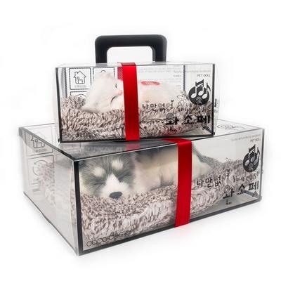 미니 리얼펫 소리나는 제습인형 강아지 고양이 모형 탈취제 - 선물용박스