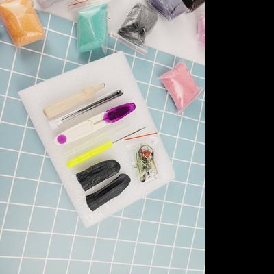 니들펠트 양모 스타터키트 (고급용) 양모펠트만들기 + 풀 도구세트 포함 50색 5g