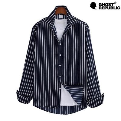 고스트리퍼블릭 MSH-547 핀 스트라이프 긴팔 셔츠
