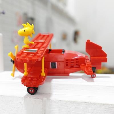피넛츠 스누피 블럭(빨간 비행기)