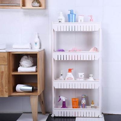이동식 냉장고 틈새선반 4단 화이트