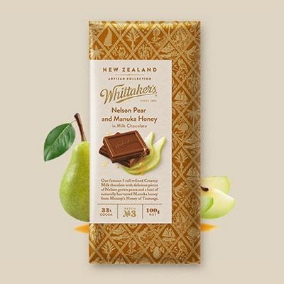 휘태커스 페어 앤 마누카허니 블럭 초콜릿 100g