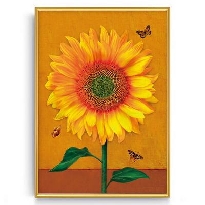 나비와벌해바라기 대형(50x70cm)