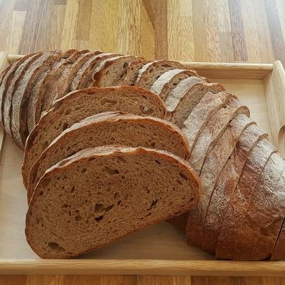 유기농 통밀빵-장발장(No충전물 플레인)1kg(운동식단조절빵)