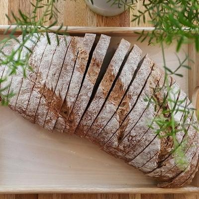 유기농통밀빵-장발장(No충전물 플레인)1kg 2팩(운동빵)