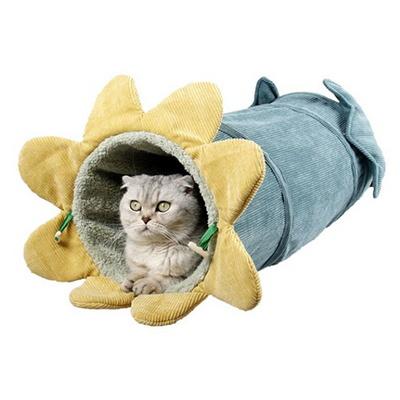 탁펫 고양이 롱 숨숨집
