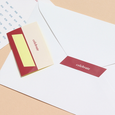 특별한 날의 카드 (봉투 스티커 포함)