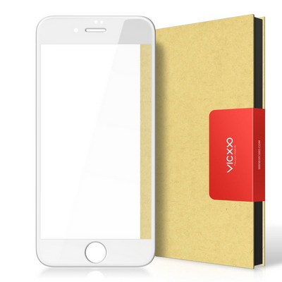 아이폰8 4D 풀커버 강화유리 액정보호 필름 화이트